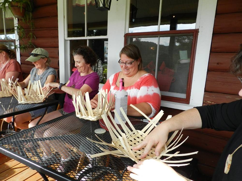Basket Weaving at Doe Camp